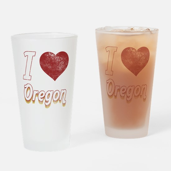 I Love Oregon (Vintage) Drinking Glass