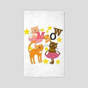 Dancing Cats 3'x5' Area Rug