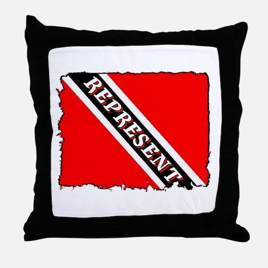 TRINI REPRESENT Throw Pillow