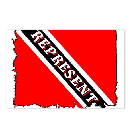 TRINI REPRESENT Postcards (Package of 8)