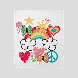 Happy Doodles Throw Blanket