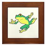 ASL Frog in Flight Framed Tile
