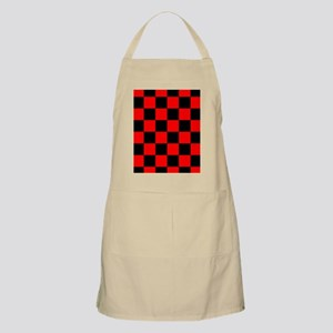Bright red and black checkerboard Apron