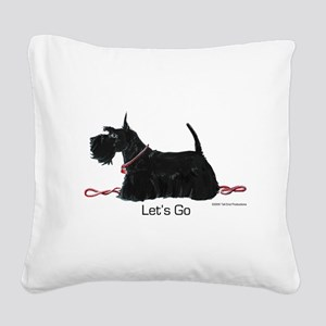 Scottie Let's Go! Square Canvas Pillow