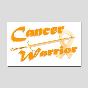 Amber Appendix Cancer Warrior Car Magnet 20 x 12