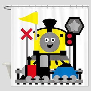 Trains Shower Curtain