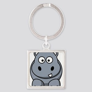 Cartoon Hippo Keychains