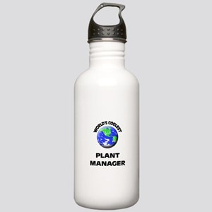 World's Coolest Plant Manager Water Bottle