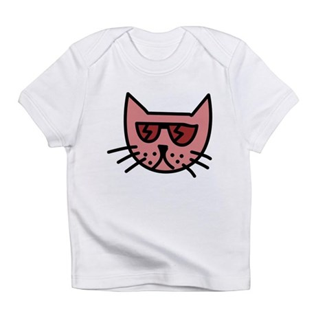 Cartoon Cat with Sunglasses Infant T-Shirt
