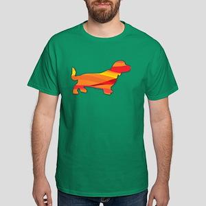 Orange Stripey Doxie T-Shirt