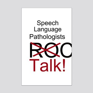 SLPs Talk! Mini Poster Print