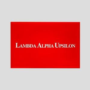 Lambda Alpha Upsilon Rectangle Magnet