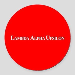 Lambda Alpha Upsilon Round Car Magnet
