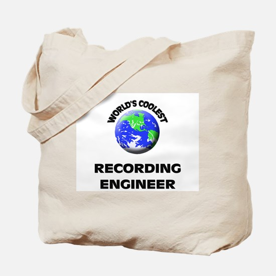 World's Coolest Recording Engineer Tote Bag