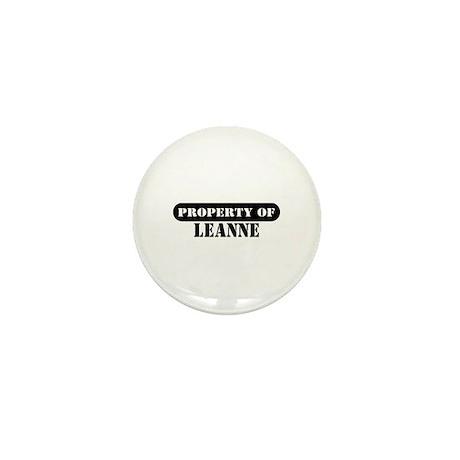 Property of Leanne Mini Button