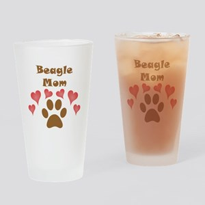 Beagle Mom Drinking Glass