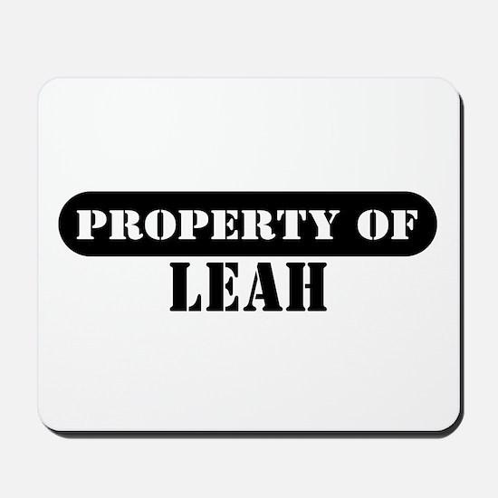 Property of Leah Mousepad