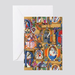 Medieval Illuminations Greeting Card