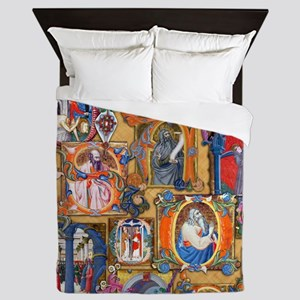 Medieval Illuminations Queen Duvet