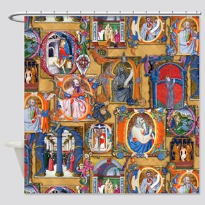 Medieval Illuminations Shower Curtain