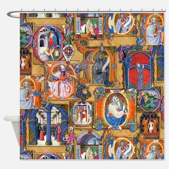 Medieval Illuminations Shower Curtain