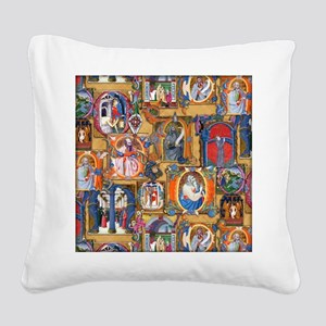 Medieval Illuminations Square Canvas Pillow