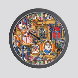 Medieval Illuminations Wall Clock