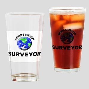 World's Coolest Surveyor Drinking Glass