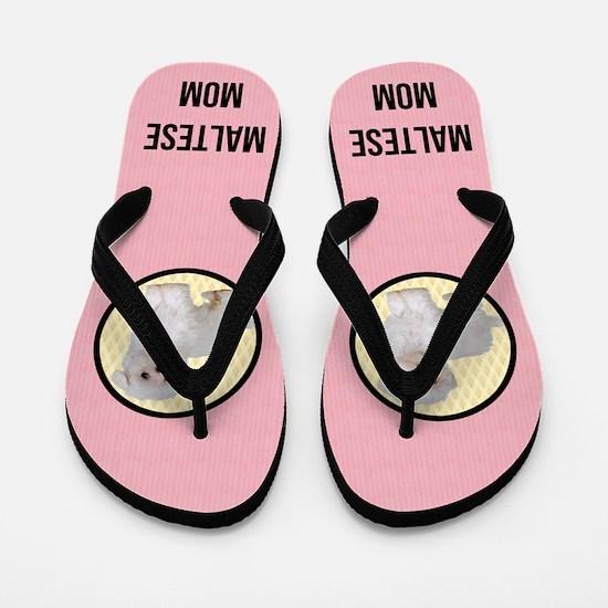Maltese Mom Flip Flops