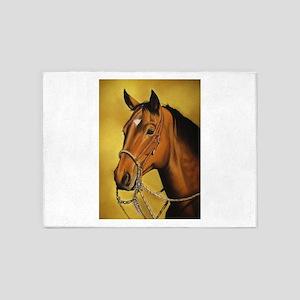 Western Horse 5'x7'Area Rug