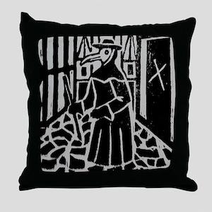 The Plague Doctor Throw Pillow