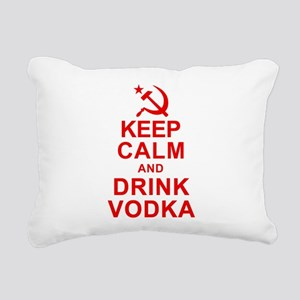 Keep Calm and Drink Vodka Rectangular Canvas Pillo