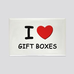I love gift boxes Rectangle Magnet