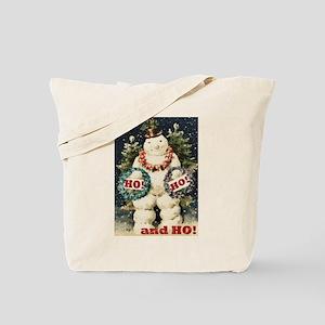 Snowman Greetings Tote Bag