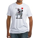 BULLDOG SMILES Fitted T-Shirt