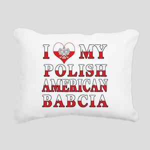 I Heart My Polish American Babcia Rectangular Canv