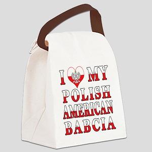 I Heart My Polish American Babcia Canvas Lunch Bag