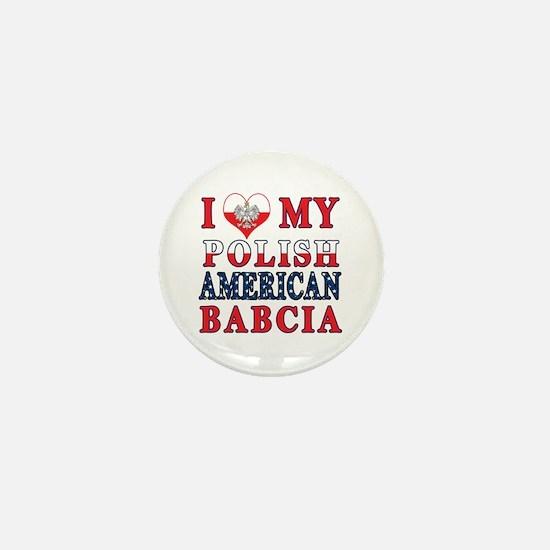 I Heart My Polish American Babcia Mini Button