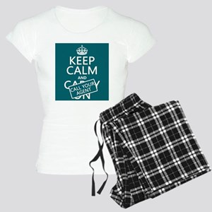 Keep Calm Call Your Agent pajamas