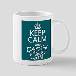 Keep Calm Call Your Agent Small Mug