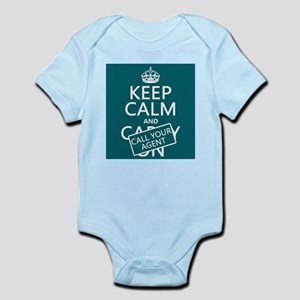Keep Calm Call Your Agent Body Suit