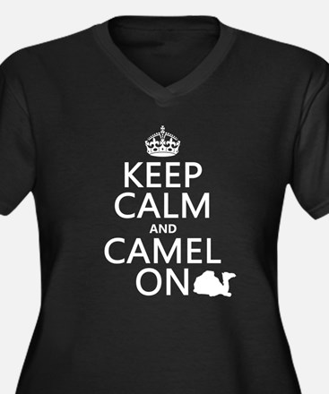 Keep Calm and Camel On Plus Size T-Shirt