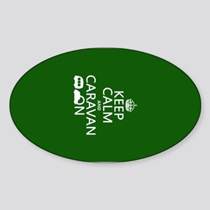 Keep Calm and Caravan On Sticker