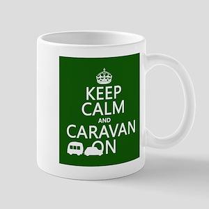 Keep Calm and Caravan On Small Mug