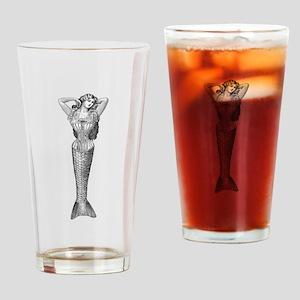 Victorian Mermaid Drinking Glass