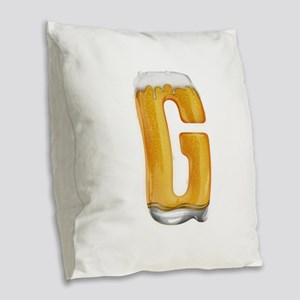 G Beer Burlap Throw Pillow