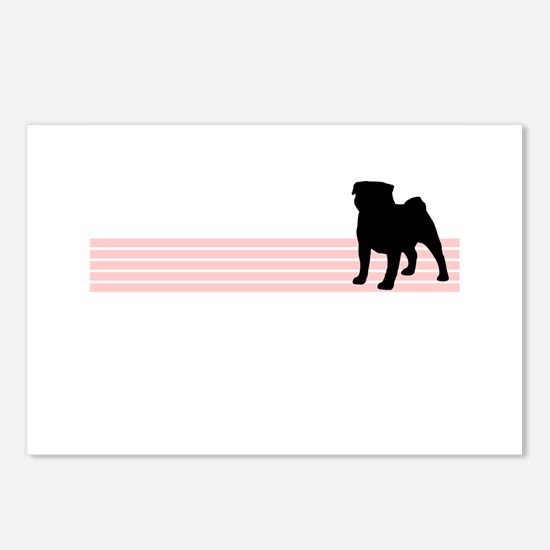 Retro Pug Postcards (Package of 8)