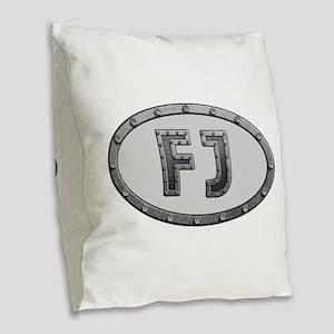 FJ Metal Burlap Throw Pillow
