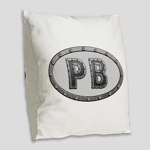 PB Metal Burlap Throw Pillow