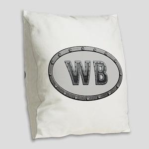 WB Metal Burlap Throw Pillow
